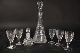 Crystal Decanter Set Of 7 Pieces