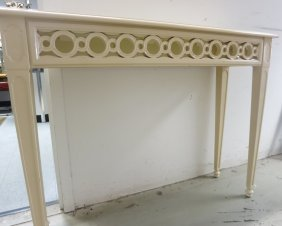 Designer Console Table Lacquered Light Wood