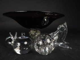 Crystal Colored Glass Group Lot