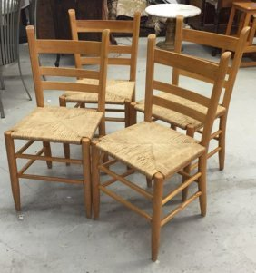 Rush Seat Country Dining Chairs 4