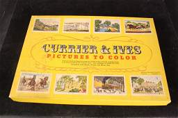 1940's Watercolor Game Currier Ives