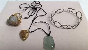 4 Pieces Costume Jewelry