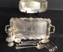 Group Silver Plate Table Top Times