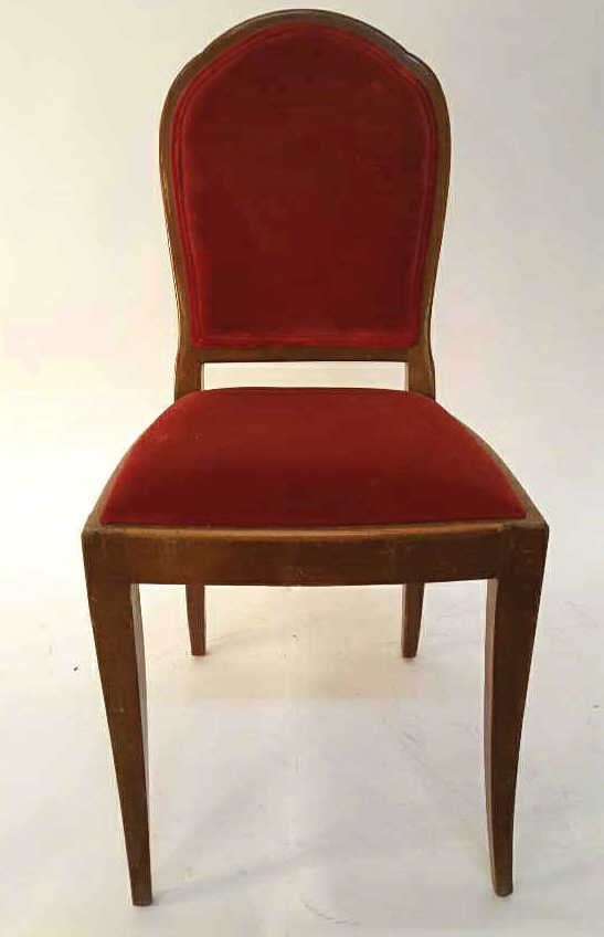 Vintage Royal Red Velvet Accent Chair
