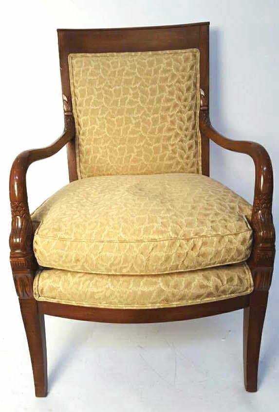 FROUVAILLES INC. Carved and Upholstered Chair
