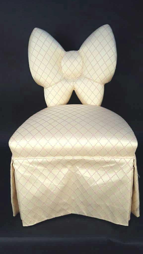 Vintage Bow Vanity Chair