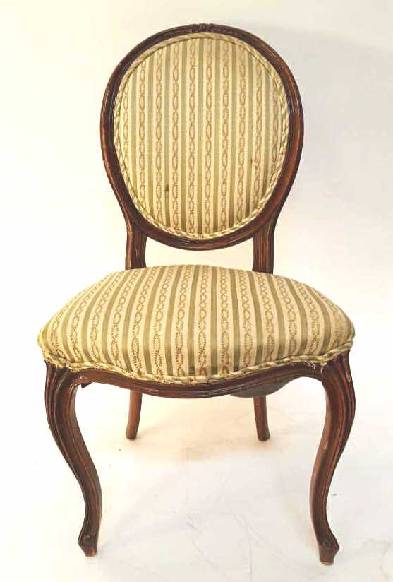 Federal Oval Upholstered Back Floral Ivy Chair