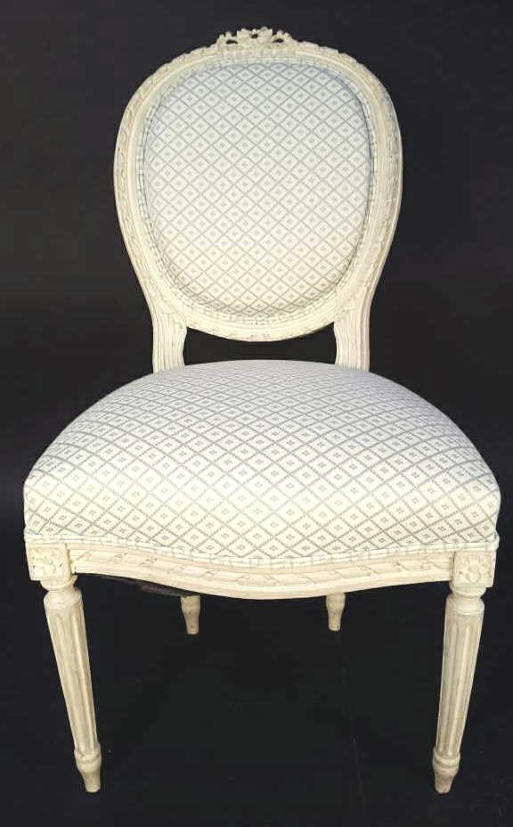Federal Oval Style Upholstered  Accent Chair