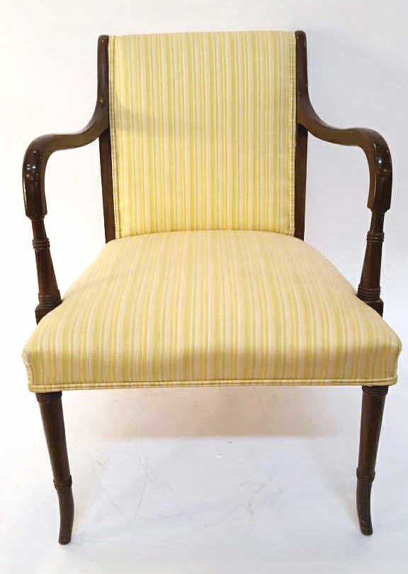 Vintage Stripped Lemon Lime 1950's Chair