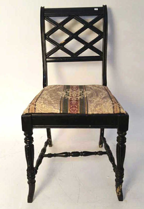 Double SHERATON SQUARE Back Accent Chair
