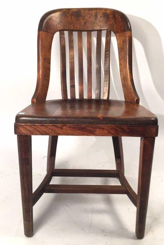 Vintage Flat Spindle Slat Back Side Chair