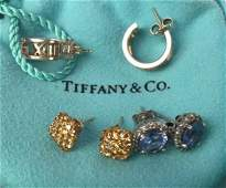 Blue, Amber, and Tiffany & Co. Earrings