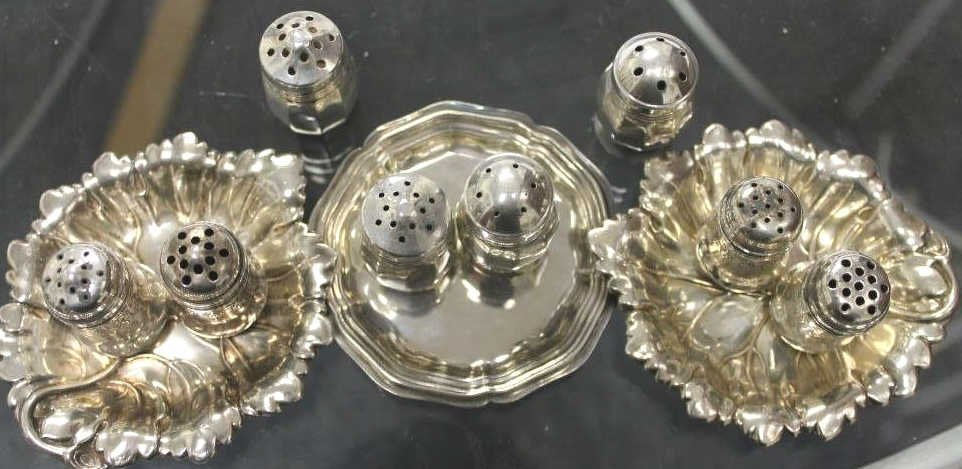 Assorted Table Articles of Sterling Silver
