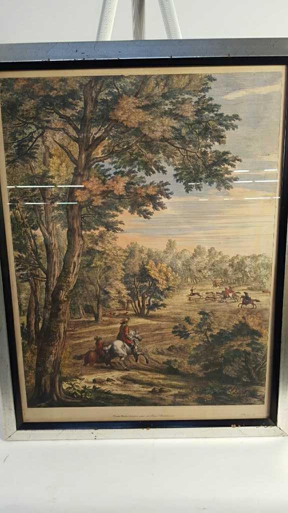 AF. BAUDUINS Colonial Hunting Scene