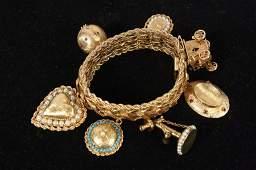 Antique Victorian 14kt Gold Charm Bracelet