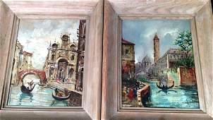 Pair Venetian Oils on canvas