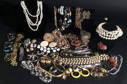 Vintage and costume jewelry lot
