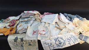 Group Lot Embroidered Linen  Lace Table wear