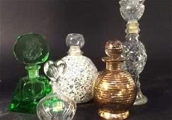 Group lot Vintage Perfume Bottles waterford crystal
