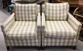 Pair Designer Upholstered Seats Kellogg Collection