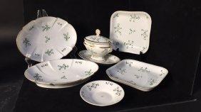 18th Century Cornflower Sprig Porcelain Group
