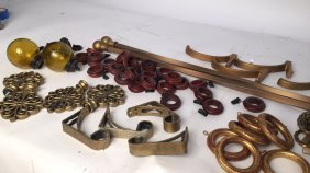 Bronze Drapery Poles Rings Tiebacks & Finials