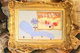 JUDY HENN oil on Canvas ornate frame
