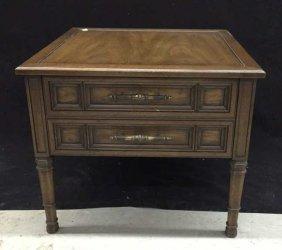 Henredon Walnut End Table Henredon Fine Furniture With