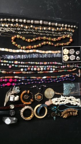Costume Jewelry & Watches A Mixed Lot Of Costume