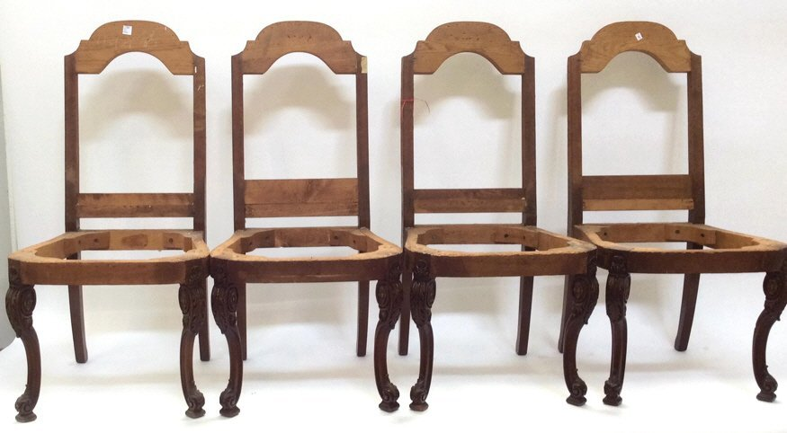 Set of 4 Wood Framed Project Chairs Set of 4 Wood