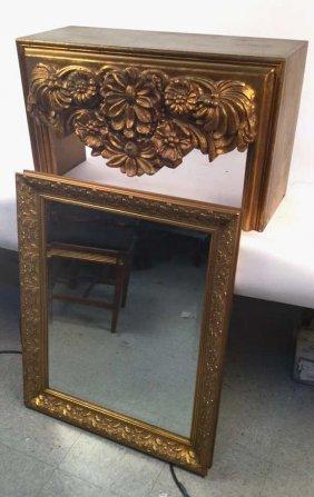 Gilded Mirror & Bench Set Gilded Mirror & Bench Set,