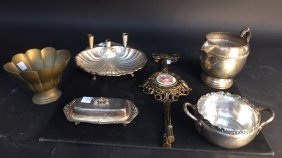 Group Lot Silver Plate Table Articles One Decorative