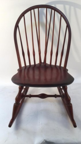 Red Windsor Rocking Chair With Spindle Back Red Windsor