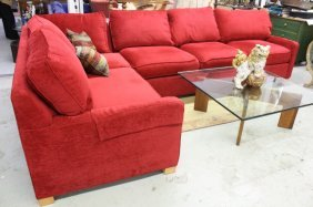 Country Willow Red Sectional Sofa A Cranberry Red