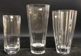Crystal Vase 3 Piece Lot