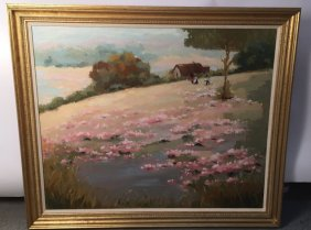 Sulvia R Miller Signed Oil On Canvas
