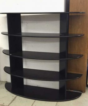 Black Lacquer Mid Century Modern Bedroom Set
