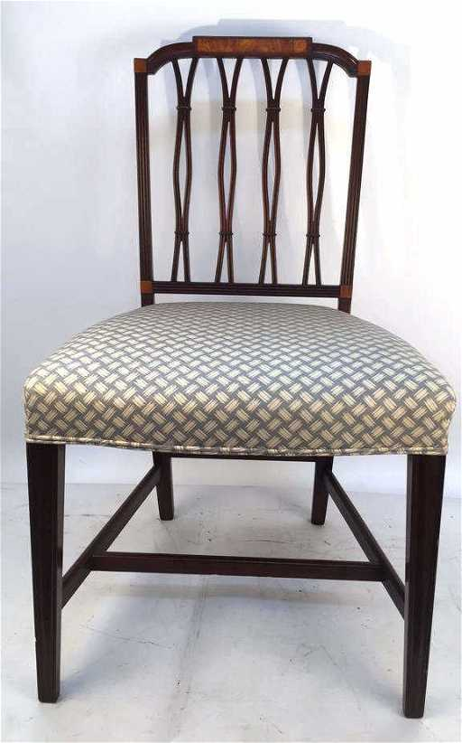 - Antique Sheraton Parlor Chair Mahogany Finish With