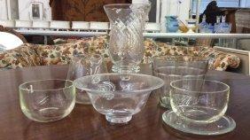 Simon Pearce Glass And 5 Unsigned Glass Simon Pearce