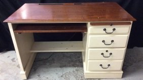 Ethan Allen Computer Desk With Keyboard Drawer