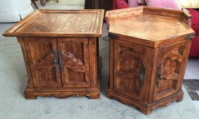 Set Of Complementary End Tables Matching Decorative