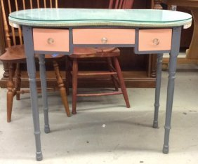 Vintage Desk With Glass Top Vintage Desk Table With