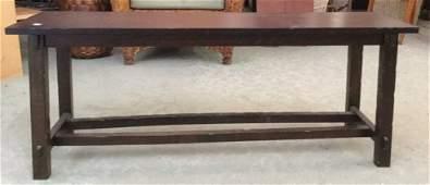 Small Mahogany Wood Console Table