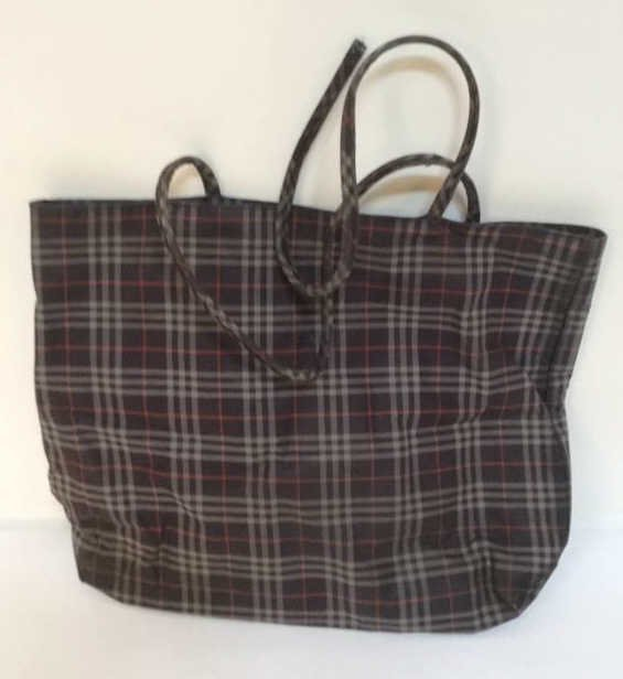 Burberry London Grey Print Tote