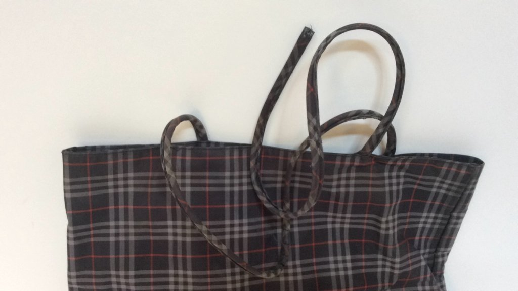Burberry London Grey Print Tote - 2