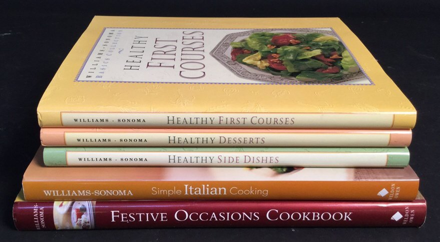 William-Sonoma 5 Cook Books Healthy