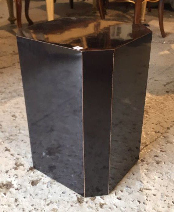 Black Formica Sculpture Pedestal