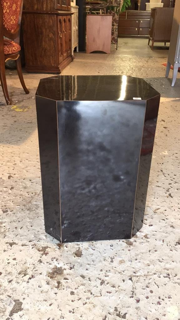 Black Formica Sculpture Pedestal - 2