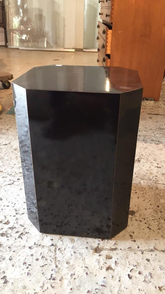 Black Formica Sculpture Pedestal - 4
