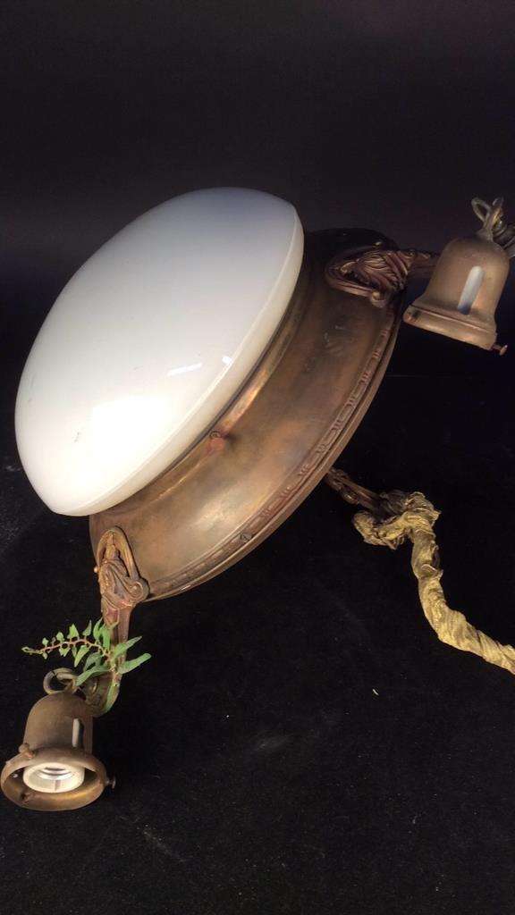 Antique Brass Frame Bells Globe Chandelier